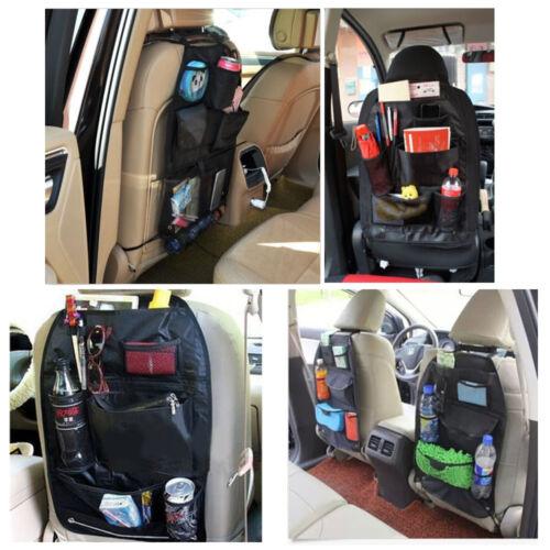 car seat organizer holder multi pocket black carrier headrest storage bag hanger 767550198983 ebay. Black Bedroom Furniture Sets. Home Design Ideas