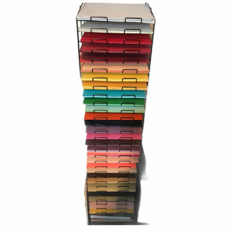 """30 Tier Paper Sorter for 12X12 Paper Black Metal Scrapbook Paper Organizer 4"""" 9"""