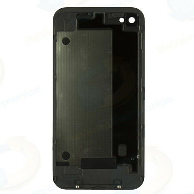 NEW iPhone iPhone 4 GSM AT&T Battery Door Rear Back Cover Glass Housing BLACK Gsm Battery Door