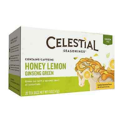 Celestial Seasonings White Caffeine Free Tea (Celestial Seasonings Tea Honey Lemon Ginseng Green Tea 20 ea (Pack of)