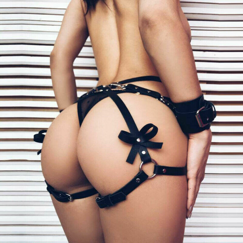 Sexy Women Leather Garter Body Harness Belt Strap Waist Leg Thigh Suspenders NEW