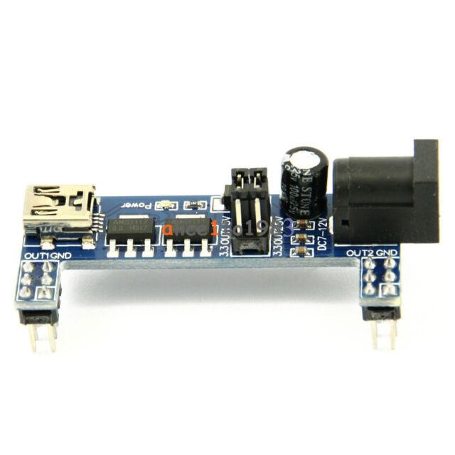 2PCS MB102 Breadboard Power Supply Module 3.3V 5V F Solderless Arduino mini usb