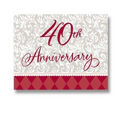 40th Wedding Anniversary Invitations - Ruby Wishes 40th Wedding Anniversary Invitations 8ct 4 X 5