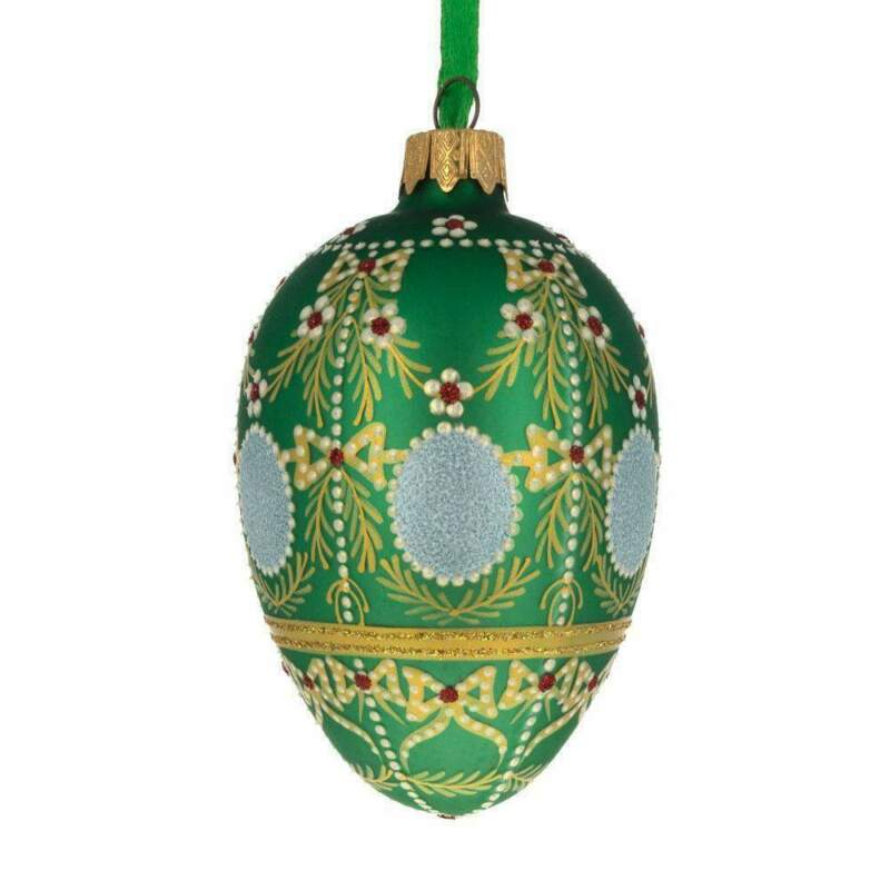 1908 Alexander Palace Royal Egg Glass Ornament