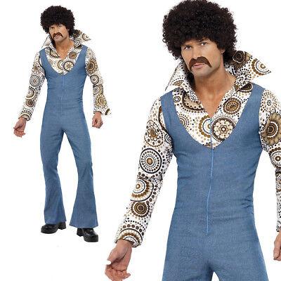 Herren 1970s Groovy Tänzer Erwachsene Kostüm Verkleidung Herren 70s Jahre (Disco Tänzer Kostüm)