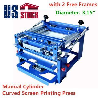 Manual Cylinder Curved Silk Screen Printing Press For Pen Mug Bottle - Usa