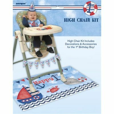 Nautical 1st Birthday High Chair Kit - 1st Birthday High Chair Decorations