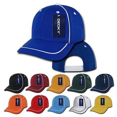 Decky Performance Piped Racing 6 Panel Snapback Jersey Mesh Baseball Caps Hats