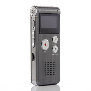 Rechargeable 8G Digital Audio Voice Recorder USB Telephone Dictaphone MP3 Player