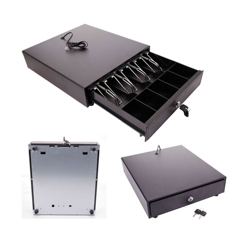 Cash Drawer Box Works Compatible Epson 4Bill & 5Coin Tray /Star POS Printers w