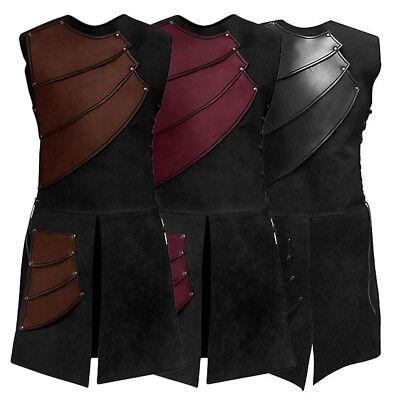 Medieval Shirt Men's Vest Vintage Laced Up Pirate Renaissance Sleeveless Costume