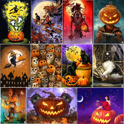 Halloween Home Diy (Happy Halloween DIY 5D Diamond Painting Embroidery Cross Stitch Kits Home)