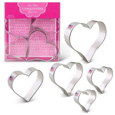 Heart Shape Cookie Cutters 5 Piece Boxed Set  2 5/8