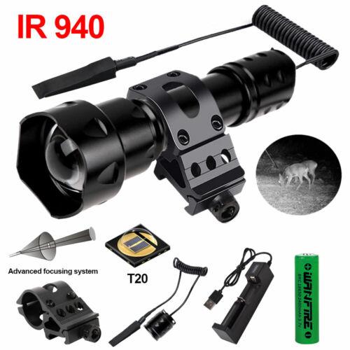 Zoom IR 940nm illuminator Infrared Light Night Vision Predat