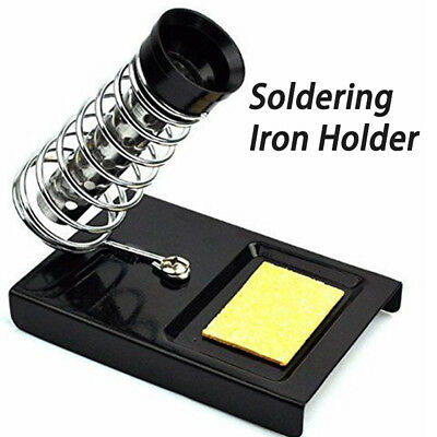 Soldering Iron Gun Stand Holder Support Station Metal Base And Solder Sponge New