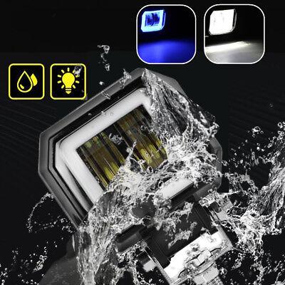 20W Quadrat Angel Eyes Weiß LED Zusatzscheinwerfer Offroad Auto SUV Nebelleuchte