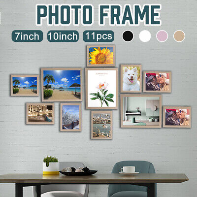 11PC 7''+10'' Multi Picture DIY Photo Frame Set Wall Art Gift Wedding Home -