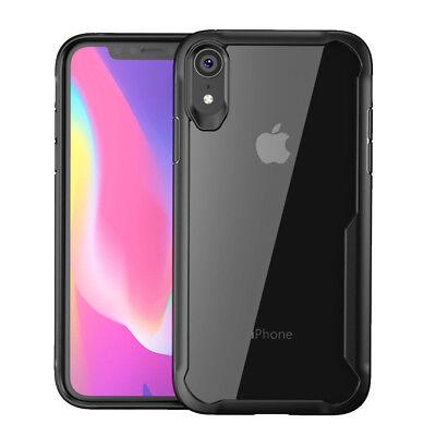 iPhone XS Max XR X 8 7 Plus 6 Antichocs Bumper Transparent Silicone Case Cover
