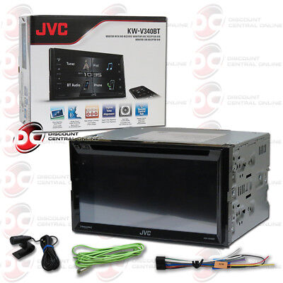 """JVC KW-V340BT 6.8"""" CLEAR TOUCH DVD CD STEREO BLUETOOTH REMOTE APP COMPATIBILTY"""