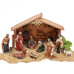 Outdoor nativity set ebay for Baby jesus outdoor christmas decoration
