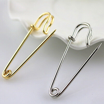 2 pcs Kilt Pin Large Safety Pin Metal Brooch Pin Silver Color / Gold Long 50 MM
