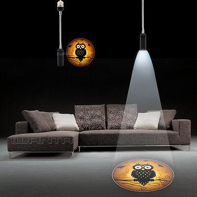 E26 E27 Night Owl Halloween Logo Home Bar LED Laser Projector Ghost Shadow light - Halloween Shadow Projector