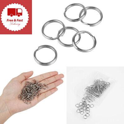 Small Key Rings Bulk Split Keychain Rings 100 Pack 1/2'' for Keys Organization