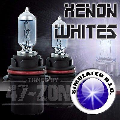2x Pilot Universal 9007 HB5 Xenon White 12v Low High Beam Headlight Lamp Bulbs