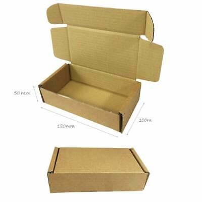 50 x Folding Lid Self Seal Cardboard Postal Boxes 180 x 100 x 50 mm