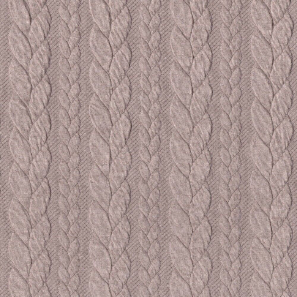 6b87b6ef095 Higgs and Higgs - CABLE KNIT JERSEY FABRIC DRESSMAKING STRETCH SWEATSHIRT