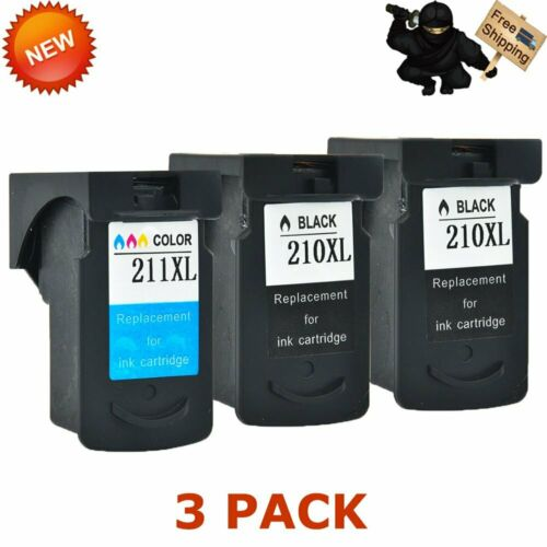 2 Pack PG-210XL CL-211XL Ink Cartridge Set For Canon 210XL 211XL PIXMA iP2700