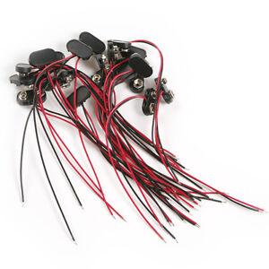 20pcs-9-Volt-9V-Battery-Clip-Snap-on-Connector-Lead-Wires-Holder-Copper-Plastic