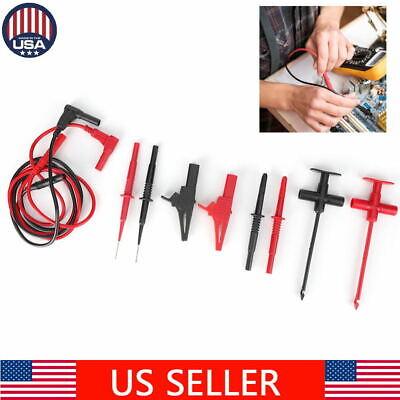 Test Lead Kit For Fluke Multimeter Tester Leads Probe Electronic Needle Clip Set
