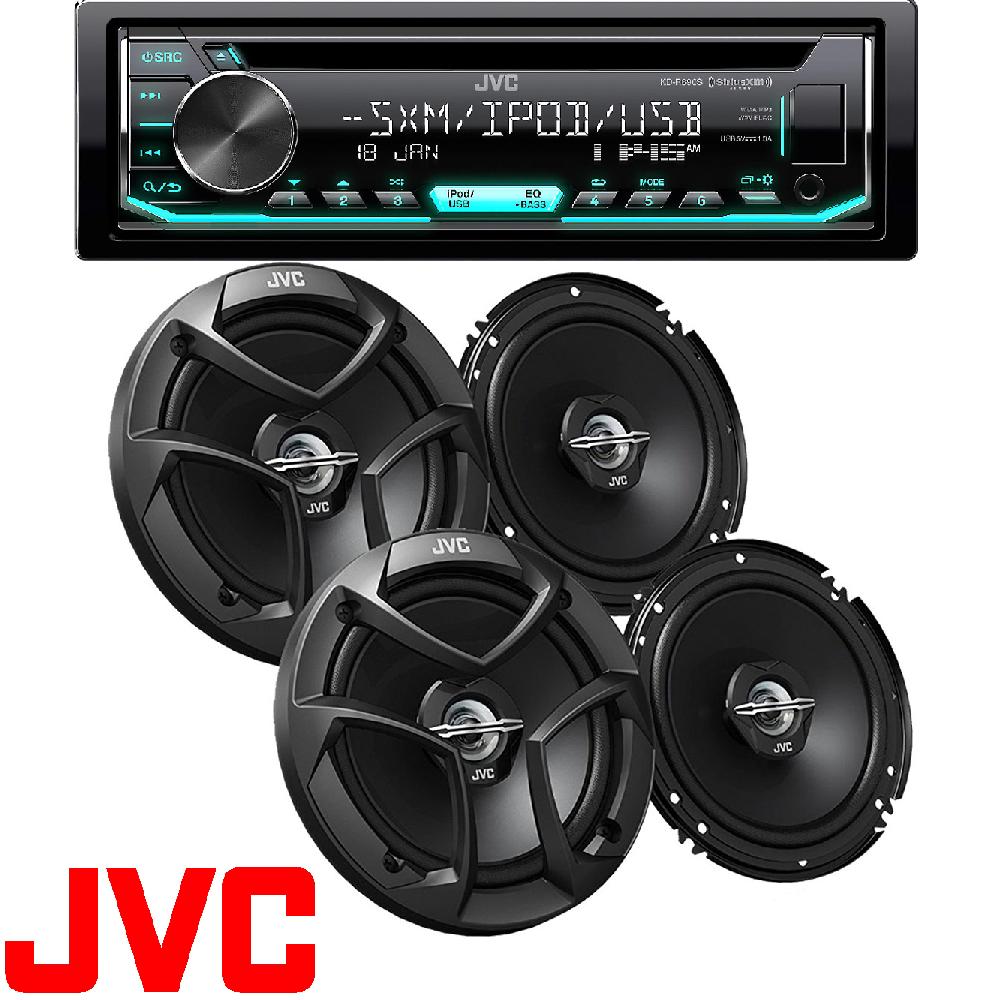 "230W 6x9 Car Speakers JVC KD-R490 JVC Din AM//FM//CD//USB+Pioneer  200W 6.5/"""