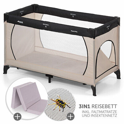 Hauck Baby Kinder Reisebett Dream'n Play Plus - mit Matratze & Insektenschutz