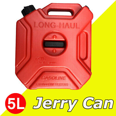 5l Portable Gas Jerry Can Plastic Fuel Tank Petrol Motorcycle Fuels Gasoline Car