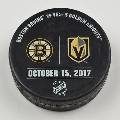 Vegas Golden Knights Warm Up Puck Used 10/15/17 VGK Vs Boston Bruins Game