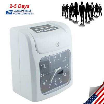 Office Electronic Time Clock Card Machine Employee Work Hours Recorder Portable