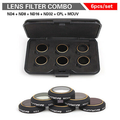 UV ND4 ND8 ND16 ND32 CPL HD Lens Filters Set Quadcopter For DJI Mavic PRO Drone