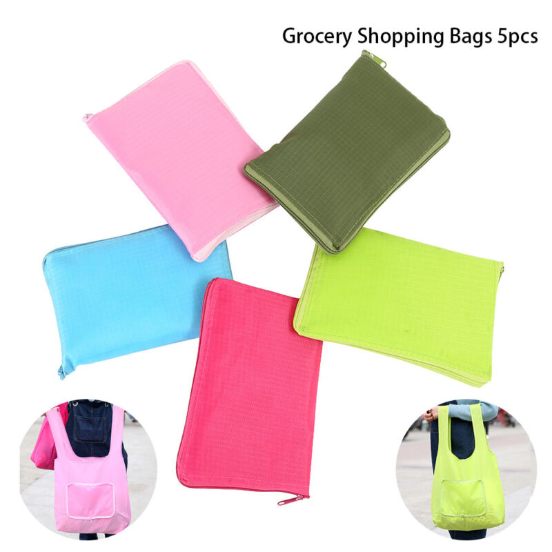 Reusable Fashion Grocery Tote Bags 5 Pack, Gift Bags Reusabl