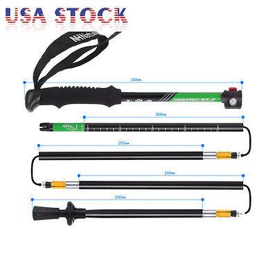 Folding Trekking Pole Collapsible Alpenstock Adjustable Hiking Stick Ultralight