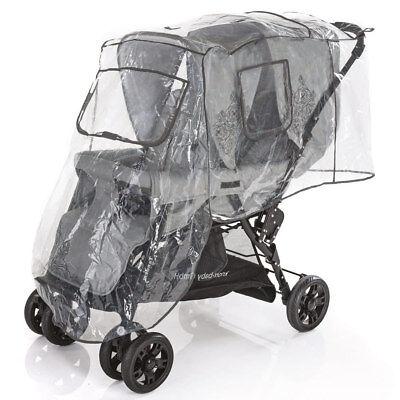 Regenschutz Regenverdeck Universal für Geschwisterwagen Zwillinge Kinderwagen
