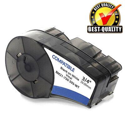 Compatible Label Tape M21-750-595-wt For Brady Bmp21-plus Vinyl White 0.75x16
