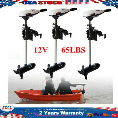 12V 65LBS Electric Trolling Motor Outboard Engine Inflatable Boat Water HANGKAI