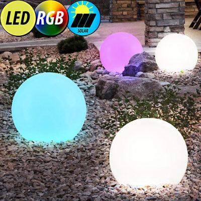 4er Set LED Solar Kugel Lampen Außen Steck Leuchten RGB Fernbedienung Terrasse