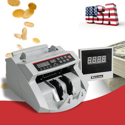Automatic Money Cash Currency Counting Machine Uvmg Counterfeit Detect Usa Ship