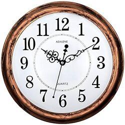 13 Adalene Large Non Ticking Silent Modern Wall Mount Clock Battery Quart Decor