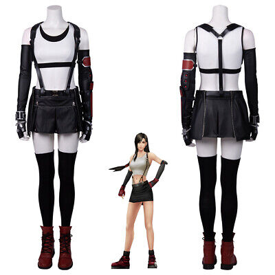 Tifa Lockheart Costume Cosplay Suit Final Fantasy VII Remake Women's Set Ver (Remake Kostüm)
