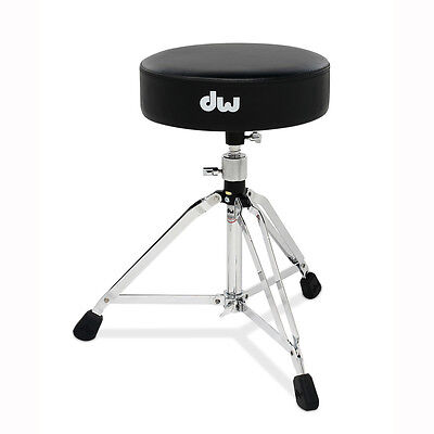 Double Braced Tripod Drum Throne - DW Drum Workshop DWCP5100 5000 Series Round Throne Seat Tripod Double Braced Leg