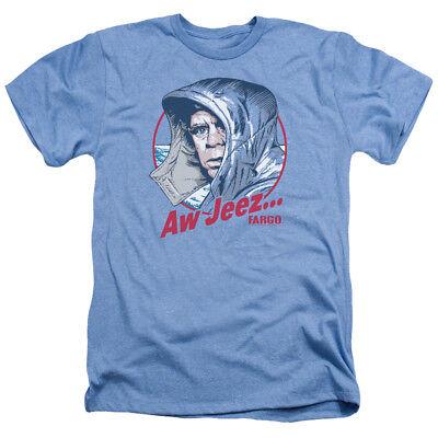 Fargo Movie AW JEEZ Adult Heather T-Shirt All Sizes - Aw Adult